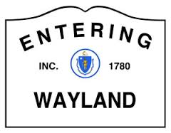 roadsign says Wayland